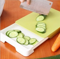 Wholesale New Healthy kitchen Multi function chopping mat plastic PP Double chopping board flexible chopping raw separately cutting board