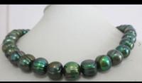 baroque tahitian pearl pendant - natural mm tahitian baroque peacock green pearl necklace quot K YELLOW CLA