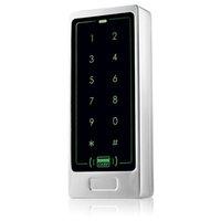Купить Пароль панели-Главная квартира Система контроля доступа Сенсорная панель Поддержка RFID 125KHz ID карты и пароль открытых дверей 8000 Пользователи Silver F1266D