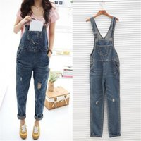 baggy overalls - Womens Ladies Baggy Denim Jeans Full Length Pinafore Dungaree Overall Jumpsuit