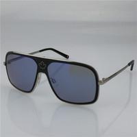 amber leaf - new men designer sunglass square frame design DQ leaf logo top quality with original case cool men sunglass