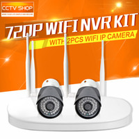 Wholesale 720P Wireless Camera NVR Kit With WiFi IP Camera Outdoor NightVision Security Surveillance System P2P iPhone Android View