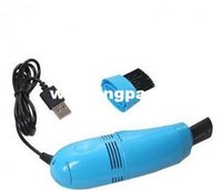 Wholesale Mini Dust Cleaner Vacuum for Computer Notebook Camera Surface Small USB Brush Flexible With Led Light
