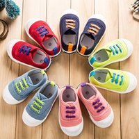 Wholesale 2016 Korean Style Spring Summer Children Canva Shoes Boys Girls Single Shoes Infant Toddlers Baby Shoes