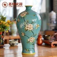 achat en gros de chine vase-Mermaid Elégant main pur peint Vase à fleurs en céramique de grande taille en porcelaine classique ameublement Décoration Arts And Crafts ménages