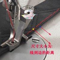 Wholesale car industrial sewing machine presser foot flange pressure foot thick seam stitch presser foot in mm steel on a