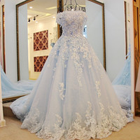 Wholesale Princess Quinceanera Dresses New Off The Shoulder Appliques Sequins Girls Pageant Gowns Fro Teens Back With Bow Celebrity Prom Dress
