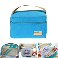 bento box bag - Good Portable Insulated Thermal Cooler Bento Lunch Box Tote Picnic Storage Bag bolsa almuerzo sac repas bags for food E5M1