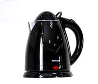 Wholesale 1 L electric kettle Double insulated plastic electric tea kettle Household hot water kettle with black white color