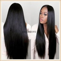 Wholesale 8A Top grade silk top full lace human hair wigs for black women silk straight glueless lace front wigs