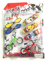 big kids bike - 7pcs set Alloy Tech Skateboard Stunt Ramp Deck toy professional tools graffiti fashion mini finger skateboard finger bike sets