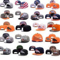 baseball denver - 2016 Newest Denver Snapback Caps Adjustable Black Baseball Caps hip hop Fashion Football hat Broncos Snapback Men women hat