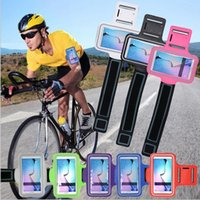 armband phone holder - Sports Arm band Armband Case For Samsung S6 S6Edge Running Gym Phone Bag Holder Pounch cover Cases Perfect Fit SamsungS6 S