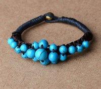 achat en gros de bracelet fil tissé-Promotion Fashion Style ethnique Vintage Enveloppé de fil Décoration Bracelets National Style de Woven Charm Bracelets Bijoux ethniques