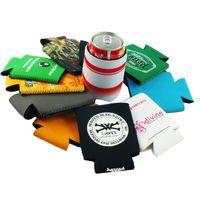 Wholesale custom neoprene can insulate bag with logo heat transfer both side