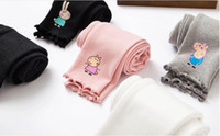 Wholesale Autumn new children s leggings cartoon pink pig wood ear girls cotton leggings set