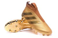 Wholesale The Newest Ace Purecontrol Soccer Football boots Cleats Shoes Pure Control Reflective Gold Gold High Collar