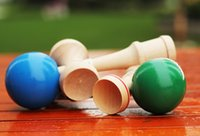 Wholesale Cheap kendamas mixed color for Sale Skills Ball Crack Jade Sword Ball child baby kids boy unisex cm High Quality wooden kendamas