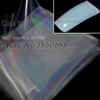 ab stickers - Clear AB Series Designed Transfer Nail Art Foil Transparent Nail Foil Sticker Laser Clear Fashion Color SY649