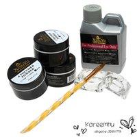 beauty dish kit - 1 Set ml Nail Acrylic Powder Liquid Pen Dish Sets Art Nails Tips DIY Design Kit Beauty Tools