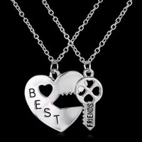 america lock - Hot New Europe and America Heart shaped lock and key Best Friends Pendant Necklace