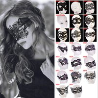 adult butterfly costumes - 20 Styles Dancing Party Women Lace Half Mask Fancy Ball Masquerade Fox Butterfly Masks Girls Sexy Mask For Prom Halloween Costume