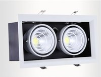 Wholesale 4Pcs double led grille light w led ceiling down light Warm Pure Cold White W AR80 COB light two years warranty AC85 V