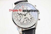 achat en gros de saphir suisse quartz-Hot Sale Montres suisses de luxe Chronometre Quartz Chronograph Montre Mens Cassic Montre bracelet White Dial Bracelet en cuir saphir