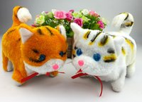 Wholesale Electric toy cat Bright eyes will be called walking toy cat Plush toy cat