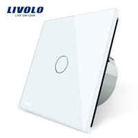 Wholesale Livolo Luxury White Crystal Glass Wall Switch Touch Switch Normal Gang Way Switch C701