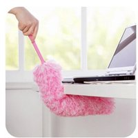 Wholesale Double color superfine fiber cleaning dust Increasing household dust imitation a feather duster Can be bent g