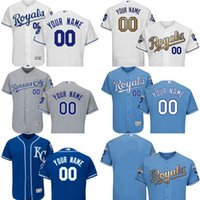 anti double - 2016 Flexbase Custom Men s Kansas City Royals Majestic Authentic Collection Personalized Double Stitched Baseball Jersey SIZE S XL