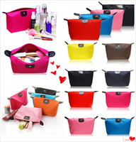 Wholesale Woman Cosmetic Bag Dumpling Design Storage Bag Fashion Lady Travel Cosmetic Pouch Bags Clutch Storage Makeup Organizer Bag Candy Colors