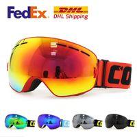 anti fog snowboard goggles - Professional ski goggles Fashion Snowboarding Glasses PC UV PTU Multi Color double anti fog lens Snowboard Goggle Protection