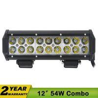 utv - 9 Inch54W CREE LED Light Bar Spot Flood Combo For Off ROAD IP67 WD ATV UTV SUV CAR Fog Headlight LED Work Light