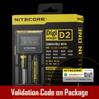 Wholesale 100 Original NITECORE D2 Digital Charger Universal Intelligent Charger For Li ion Ni MH battery Genuine Nitecore D2