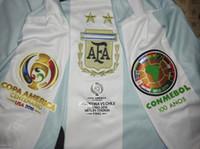 Wholesale 2016 Copa América Centenario Final Argentina sports jerseys camiseta de fútbol maillot de foot Messi Di Maria Mascherano Higuaín Kun Agüero