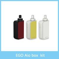 2016 Joyetech eGo Kit de démarrage de boîte AIO avec 2ml e-Juice Capacité 2100mAh Batterie intégrée Kit tout-en-un eGo AIO Box 100% Original