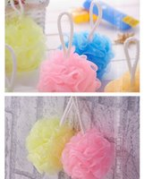 Wholesale new bath products sponge loofah exfoliating gloves Shower Set Mesh Net Scrub Strap Exfoliate Puff Sponge Loofah Flower Lace Ball