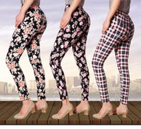 ankle skinny colored - 2016 Plaid Capris Plus Size fashion lady candy colored casual trousers Ms stovepipe pencil ankle length jeans women jeans
