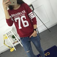 Wholesale Sudaderas Fashion Harajuku Style Hoodies Sweatshirt Truien Women Crewneck BROOKLYN Printed Hoody Tracksuit Chandal Mujer