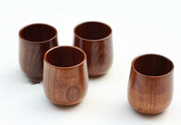 Wholesale zakka Japanese korean style coffee cups quality ECO Friendly wood wooden sake cup