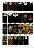 Wholesale 60 Styles Halloween Scary Mask Festival Skull Masks Skeleton Outdoor Motorcycle Bicycle Multi Masks Scarf Half Face Mask Cap Neck Ghost