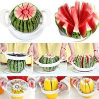 bar knives - New Large Watermelon Cutter Knife Cantaloupe Slicer Corer splitters Stainless Steel Fruit Divider Kitchen Dining Bar Pratical Gadgets Tools