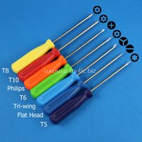 Wholesale Mini Screwdriver T5 T6 T8 T10 Flat head Cross Philips Tri Wing Torx Security Screw Driver