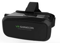 Wholesale VR Box Case I II III D Virtual Glasses Plastic Google Cardboard Helmet Case for Games VR Video bluetooth charging gamepad