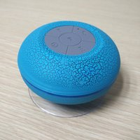 Wholesale Sucker Dustproof Bathroom Waterproof Wireless Bluetooth Speaker With LED Light Car Shower Speaker Handfree Colors