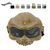 Wholesale Outdoor Face Protection Gear Airsoft Shooting Equipment Desert Corps Mask Upper Half Face Tactical Airsoft Skull Mask