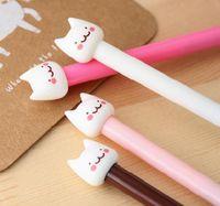 Wholesale 12pcs slim cute pink cat gel pens kitty pen gift or prize fashion lovely pen pencil air max penna gel pluma del gel