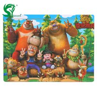 Wholesale Wooden Puzzles Board Jigsaw Cartoon Kids Toys Toddlers Intellective Educational Toys for Children
